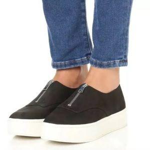 Vince Warner zip platform sneakers